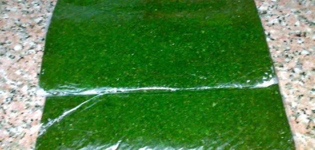 طريقة تفريز الملوخية الخضراء