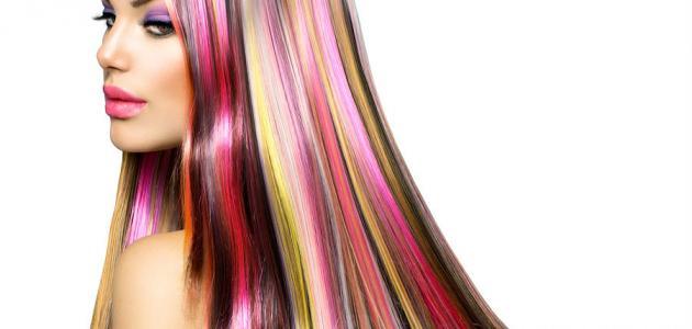 أنواع أصباغ الشعر