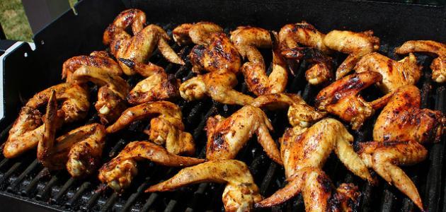 طرق إعداد دجاج مشوي على الفحم