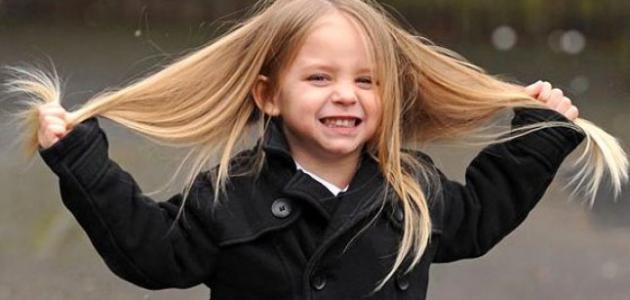 طرق تنعيم شعر الأطفال