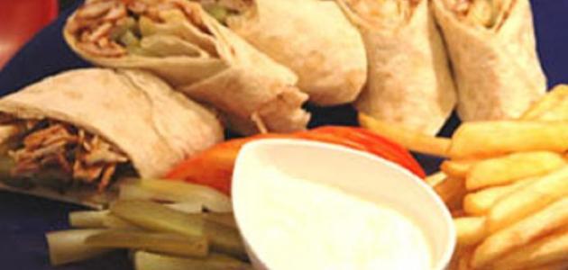 طريقة الشاورما التركية