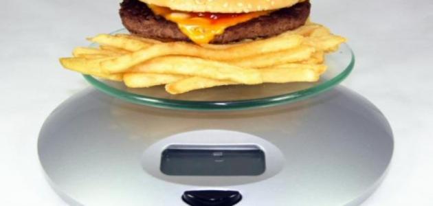 طريقة حساب السعرات الحرارية في الأكل