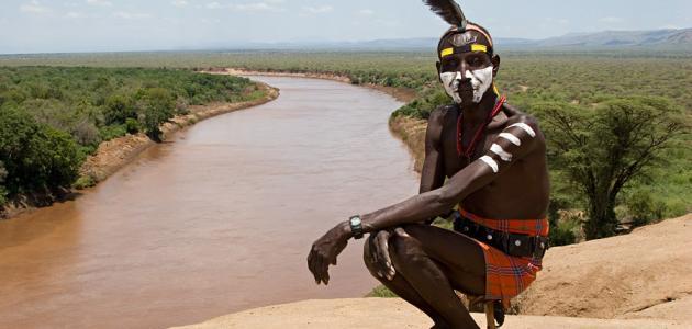 أين يقع نهر أومو
