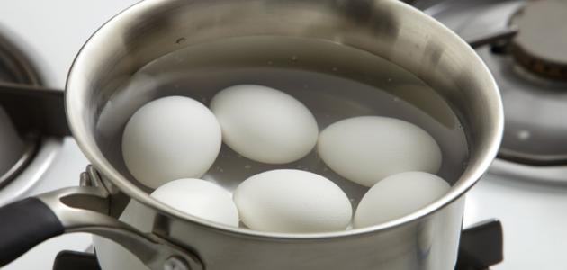 كيف نسلق البيض