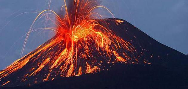 كيف يتكون البركان