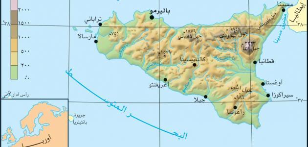 أين تقع جزيرة صقلية