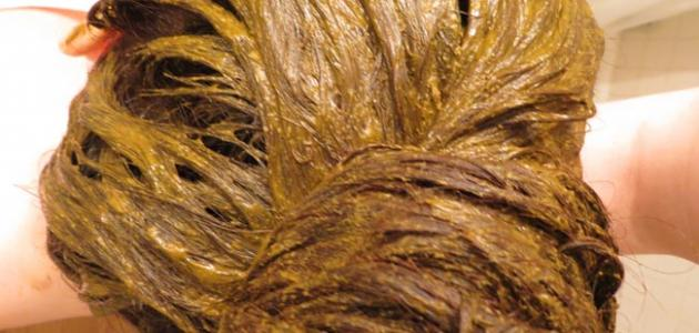 طريقة صبغ الشعر بالحناء