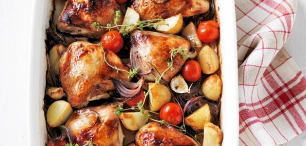 كيفية طبخ دجاج محمر