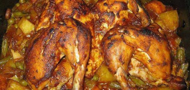 طريقة صينية الدجاج بالبطاطس
