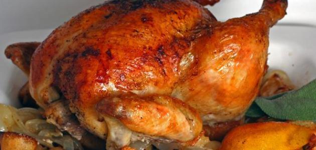طريقة الدجاج المحمر