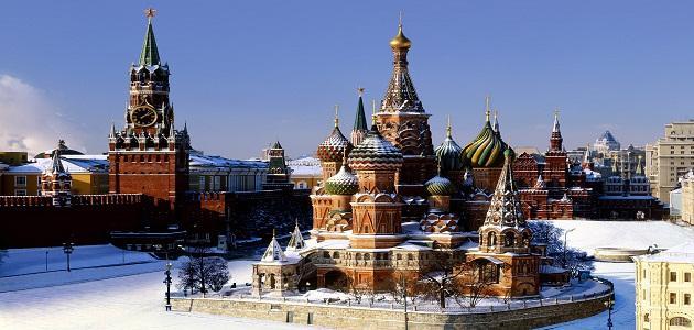 كم مساحة روسيا