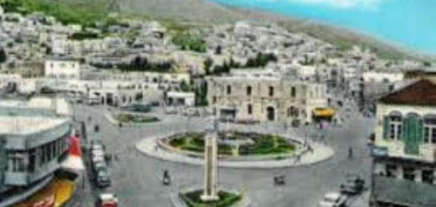 أين تقع مدينة نابلس