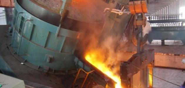 كيف يتم صهر الحديد