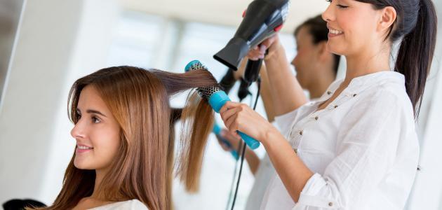 تصفيف الشعر الطويل