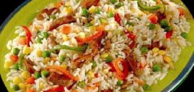 طريقة عمل أرز بالخضار والدجاج