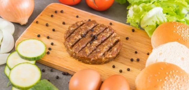 طريقة عمل لحم الهمبرجر - موضوع