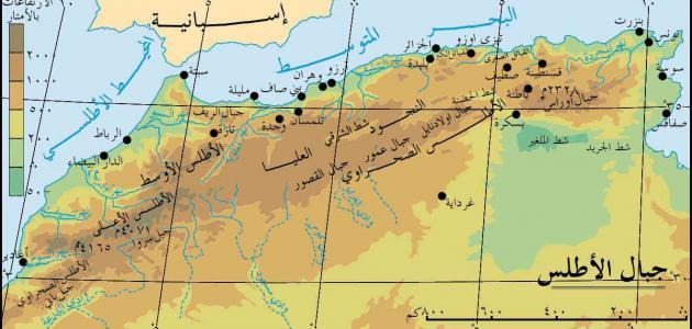 تضاريس المغرب العربي