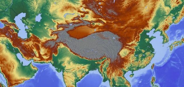 تضاريس قارة آسيا