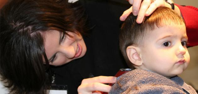 طريقة قص الشعر للأطفال