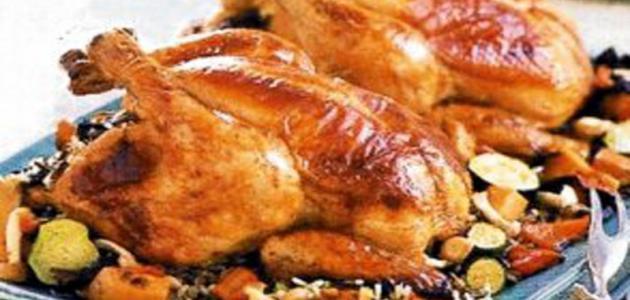 طريقة الدجاج في الفرن