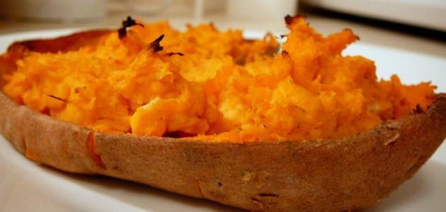طريقة عمل البطاطا الحلوة في الفرن