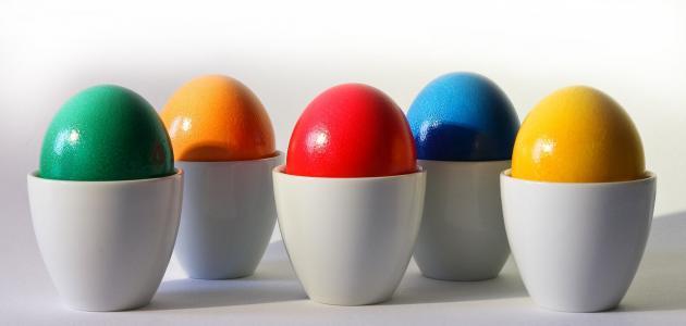 كيف نلون البيض