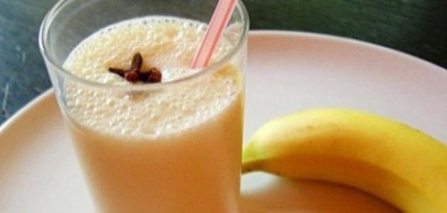 طريقة عصير الموز بالحليب