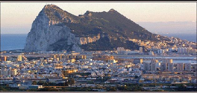 أين يوجد جبل طارق