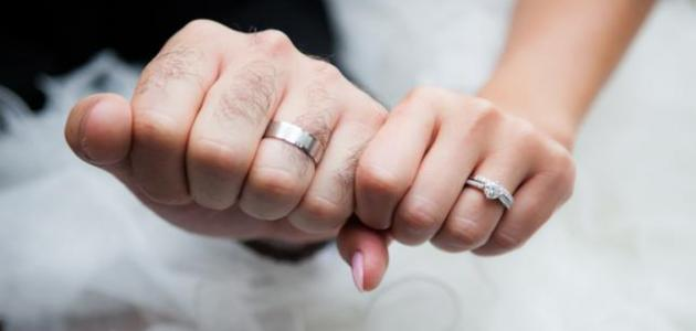 أين توضع الدبلة بعد الزواج