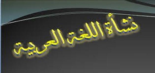 كيف نشأت اللغة العربية