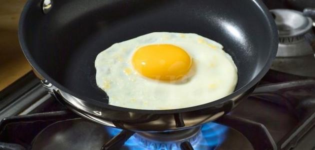 كيف أقلي البيض