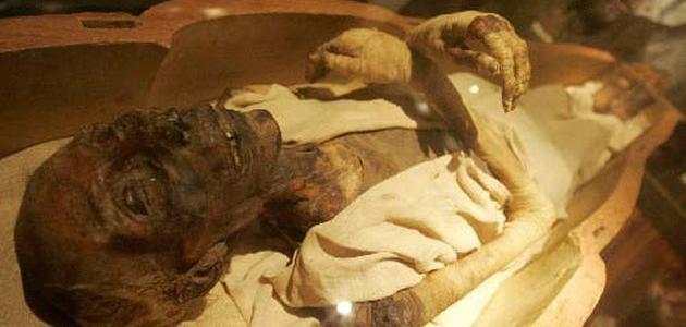 أين جثة فرعون