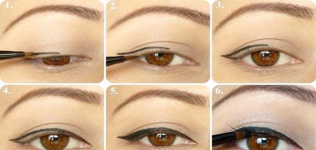 كيفية رسم العين بالكحل