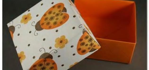 كيف نصنع علب من الورق