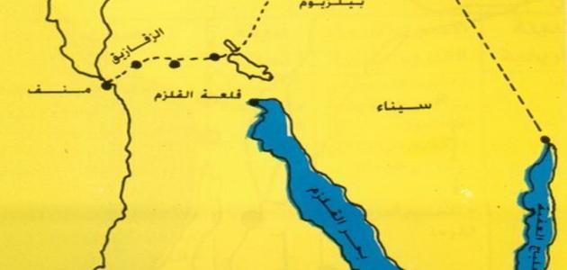 أين تقع شبه جزيرة سيناء