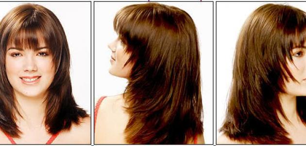 طريقة قص الشعر مدرج طويل