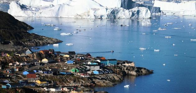 أين تقع جزيرة جرينلاند