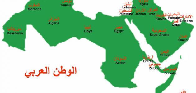 بحث عن جغرافية الوطن العربي
