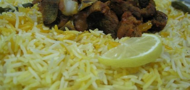 طريقة عمل أرز مندي باللحم