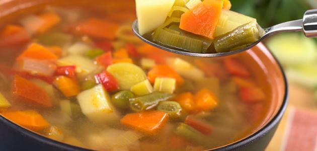 طريقة عمل حساء الخضار