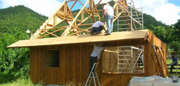 كيف تصنع بيت من الخشب