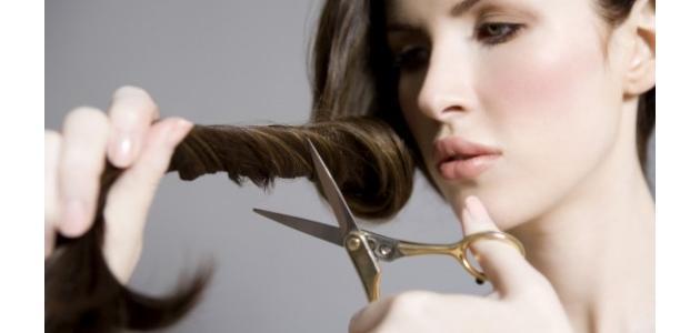 طريقة قص الشعر في المنزل
