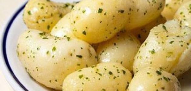 عمل البطاطا المسلوقة