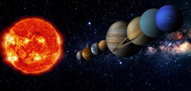 ترتيب الكواكب حسب حجمها وبعدها عن الشمس