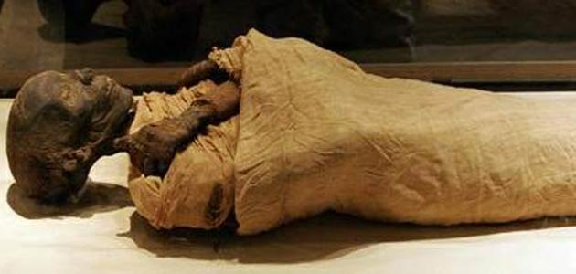 أين وجدت جثة فرعون