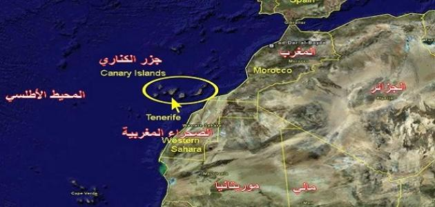 أين تقع جزر الكناري على الخريطة