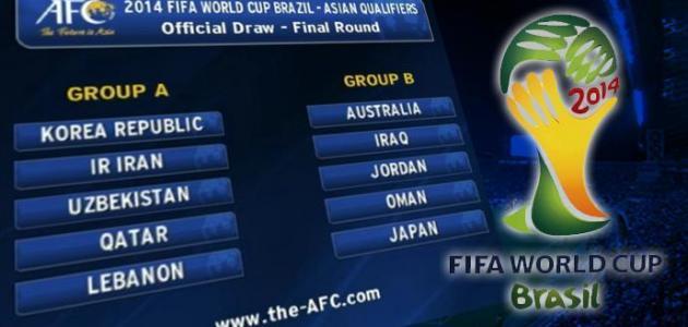 ترتيب تصفيات كأس العالم 2014