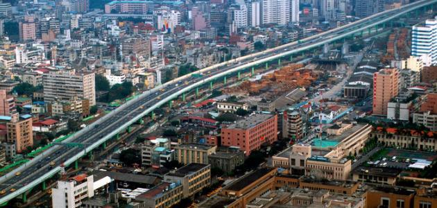 أين تقع مدينة تايوان