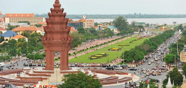 أين تقع مدينة كمبوديا