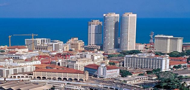 أين تقع مدينة كولومبو